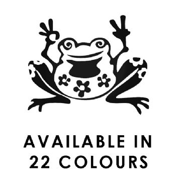 Flower Power Frog Car Stickers Funny Vinyl Decals Motorbike Fairings Panniers
